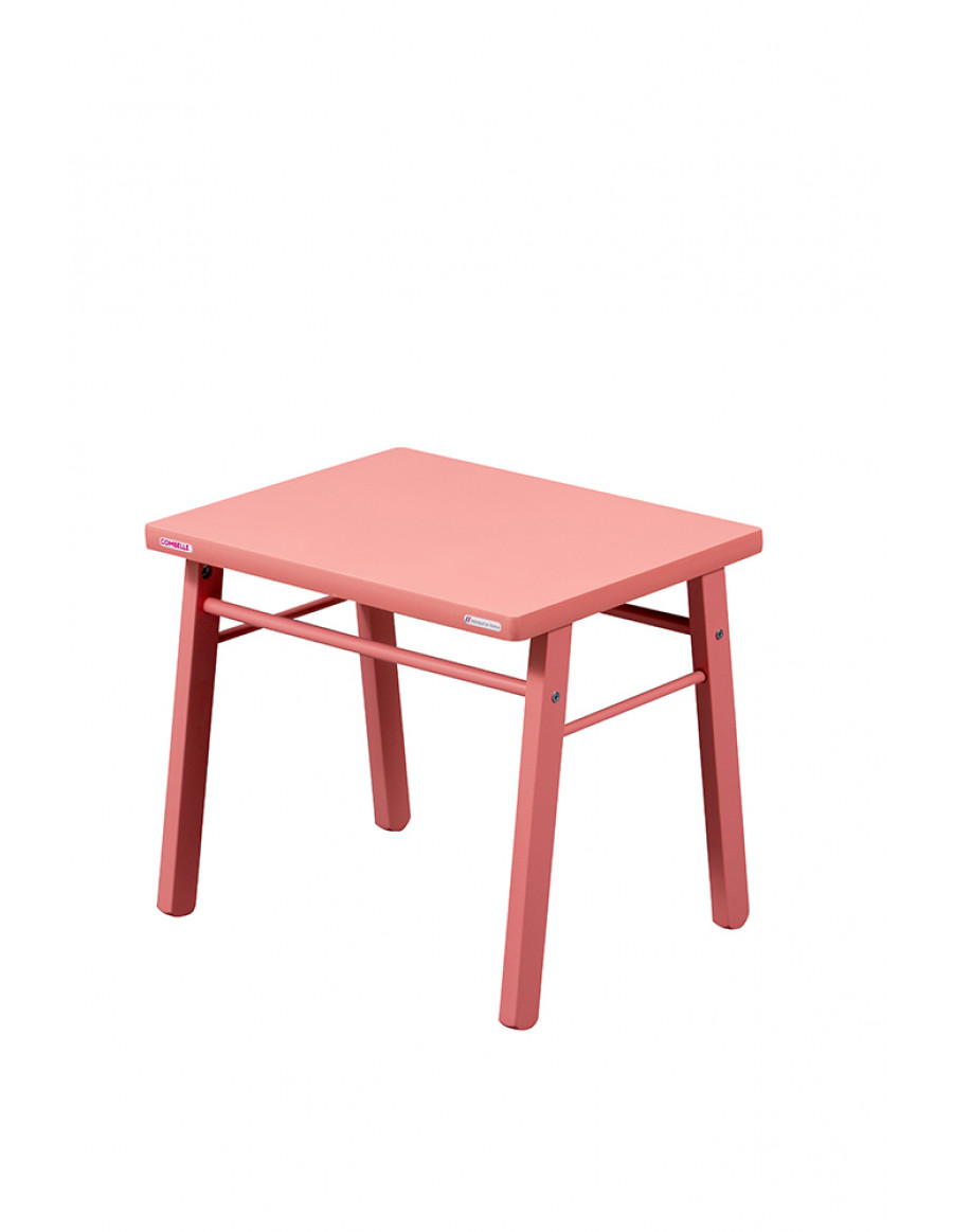 Table basse laquée rose