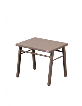 Table basse laquée taupe